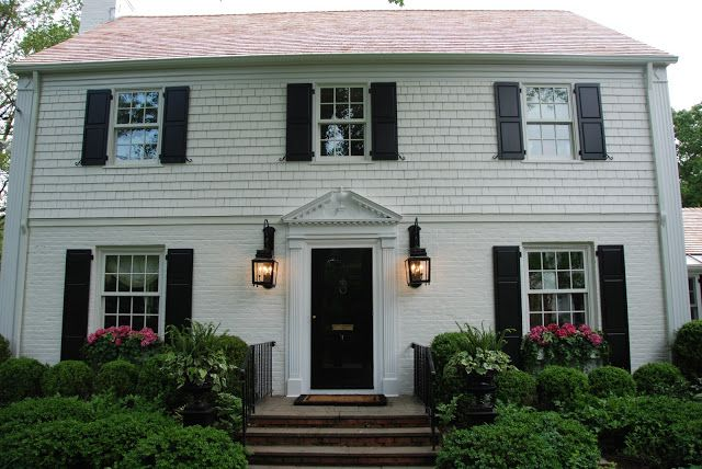 The Enchanted Home Colonial House Exteriors Colonial Exterior Exterior Brick