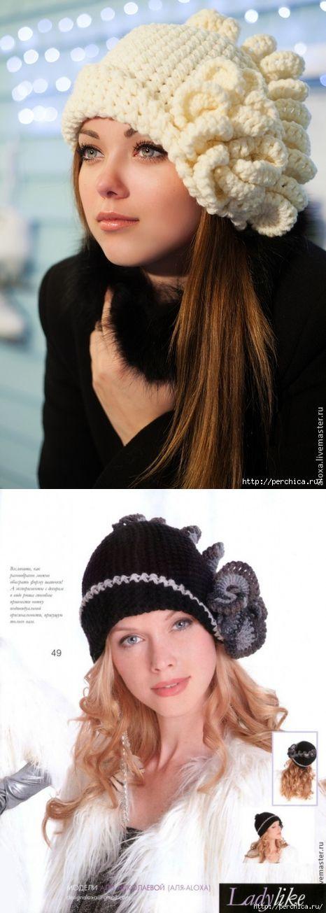 Вязаная шапка парижанка фото