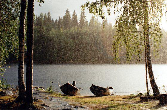 Pioggia e sole a Saimen, una #twitpic dalla #Finlandia