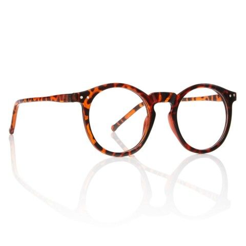 bb56270ad93 O MALLEY EYEGLASSES New Round Tortoise Frame Clear Lens Keyhole Bridge  Glasses