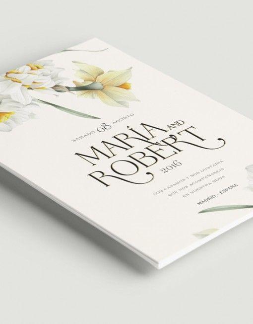Invitaci n narcisos ii invitations invitaciones de - Bodas sencillas y romanticas ...
