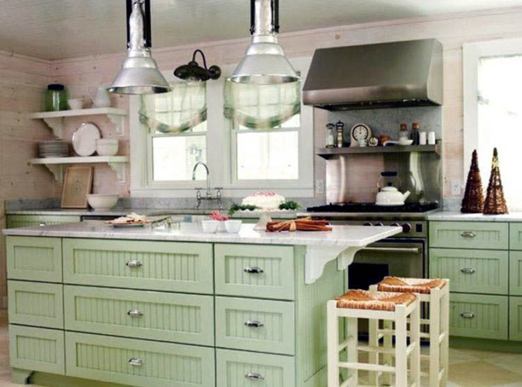 Awesome What Color Kitchen Cabinets Go With Black Stainless Steel Appliances On This Favorite Site Green Kitchen Cabinets Kitchen Cabinet Design Green Kitchen