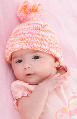 Baby s First Hat Free Knitting Pattern from Red Heart Yarns  74af7c689359