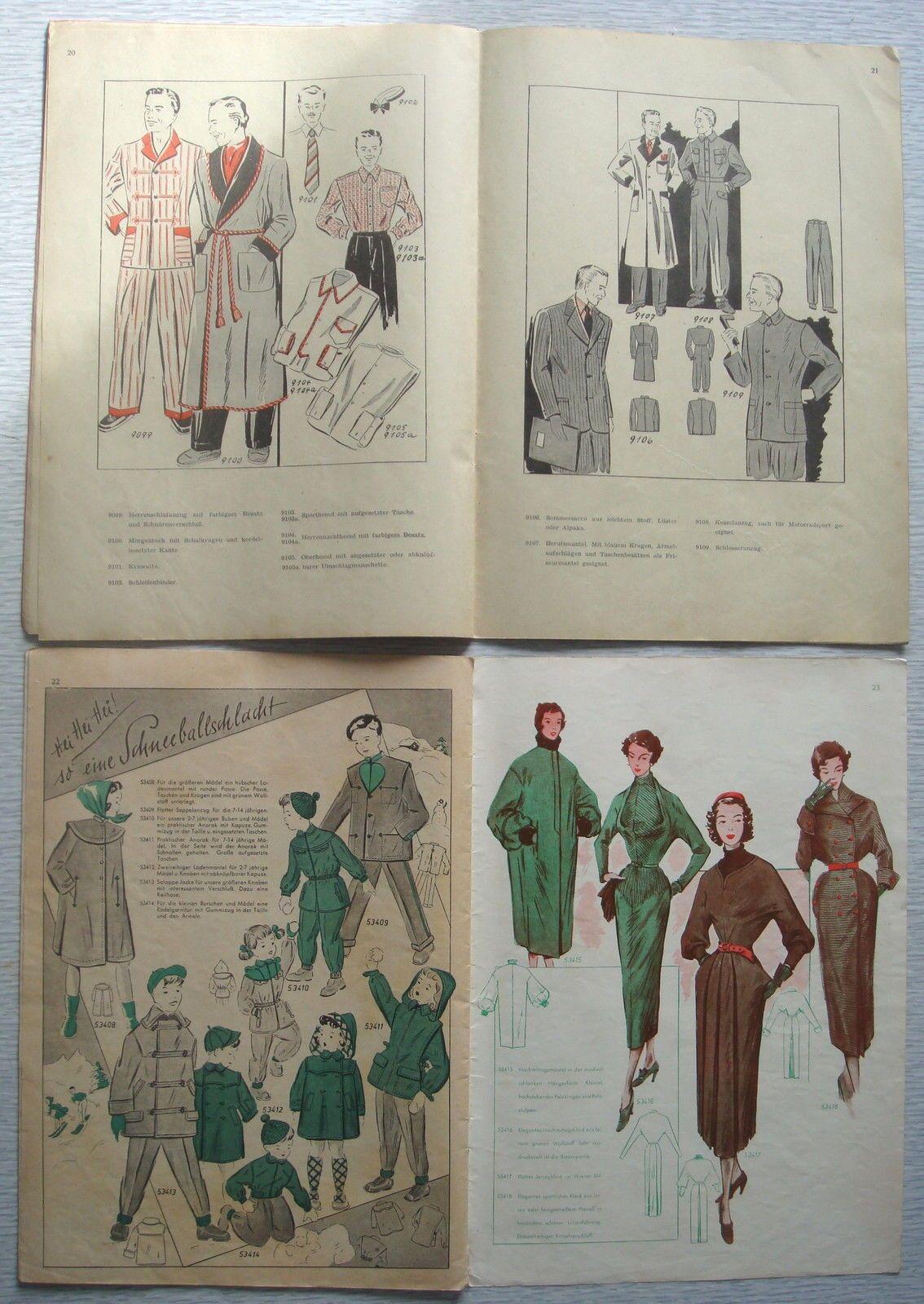 VINTAGE GERMAN 1940s1950s FROHNE SCHNITTZEICHNER DRAFTING SEWING ...