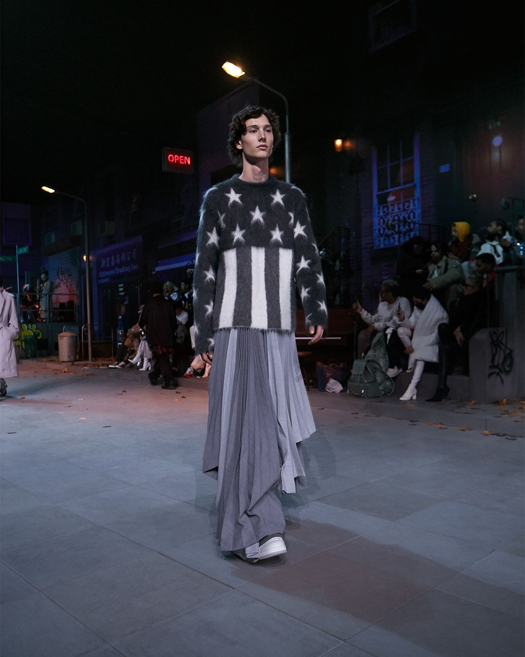 4220878db80 A look from the Louis Vuitton Men s Fall-Winter 2019 Fashion Show by Virgil  Abloh