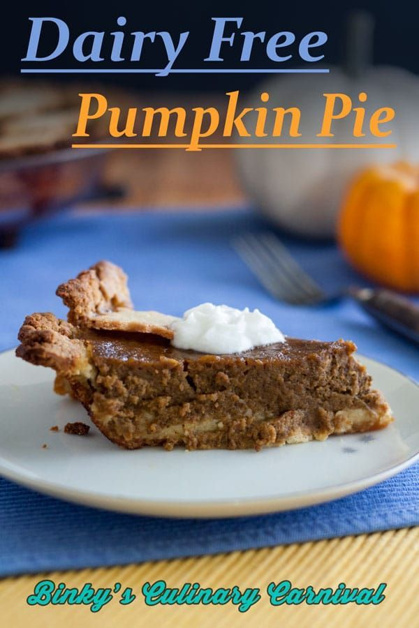 Dairy Free Pumpkin Pie The most delicious Dairy Free Pumpkin Pie is made with homemade dairy free evaporated milk! Easy and delicious! Just like grandma used to make but easily digestible! via @binkysculinarycarnival