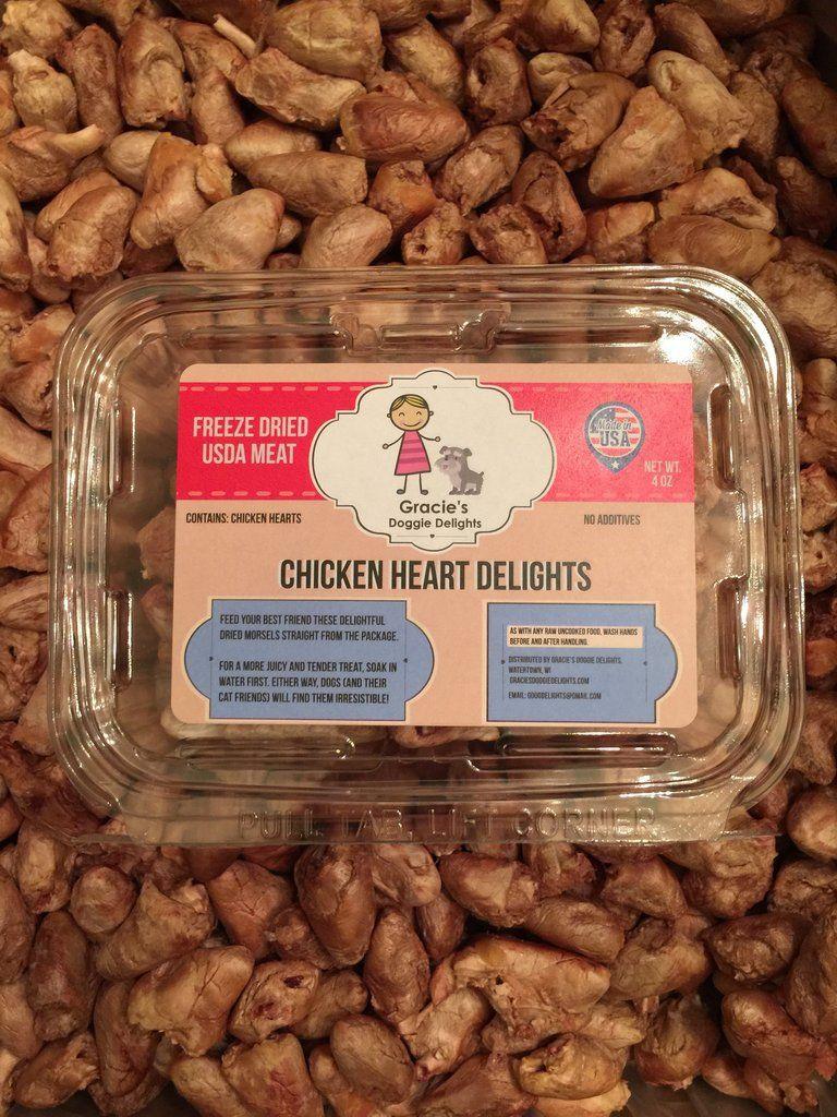Gracie S Chicken Heart Delights Freeze Dried Dog Treats Chicken