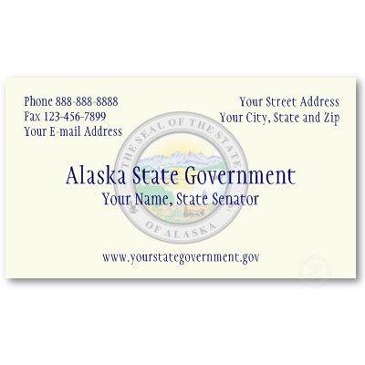 Alaska State Government Business Card Business Card Design Ideas