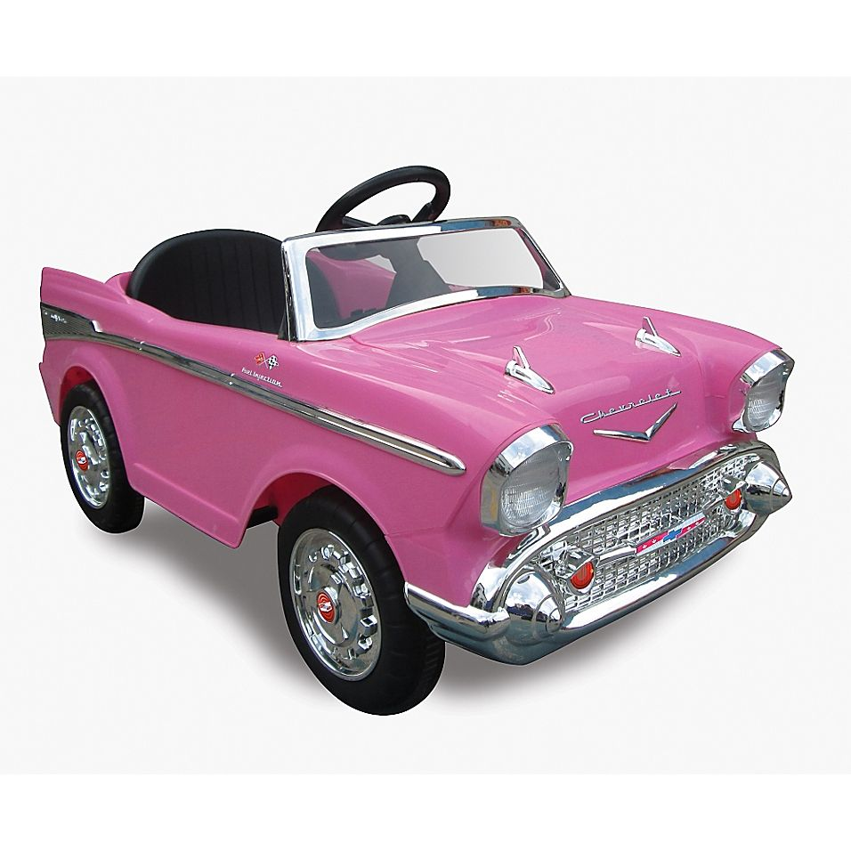 Kid Motorz Chevy Bel Air 1 Seater 12 Volt Ride On In Pink Bed Bath Beyond Chevy Bel Air Futuristic Cars Design Chevy