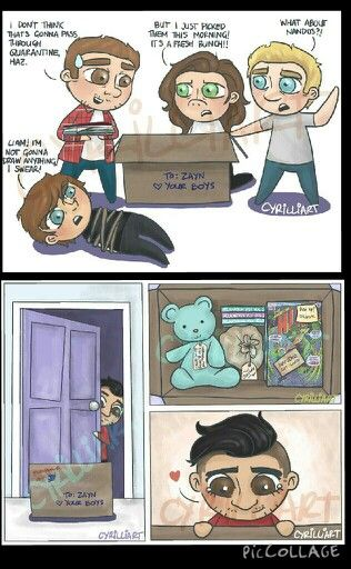 OMG THIS IS THE CUTEST CARTOON I HAVE EVER SEEN ITS DEDICATED TO ZAYN IM GUNNA CRY!!
