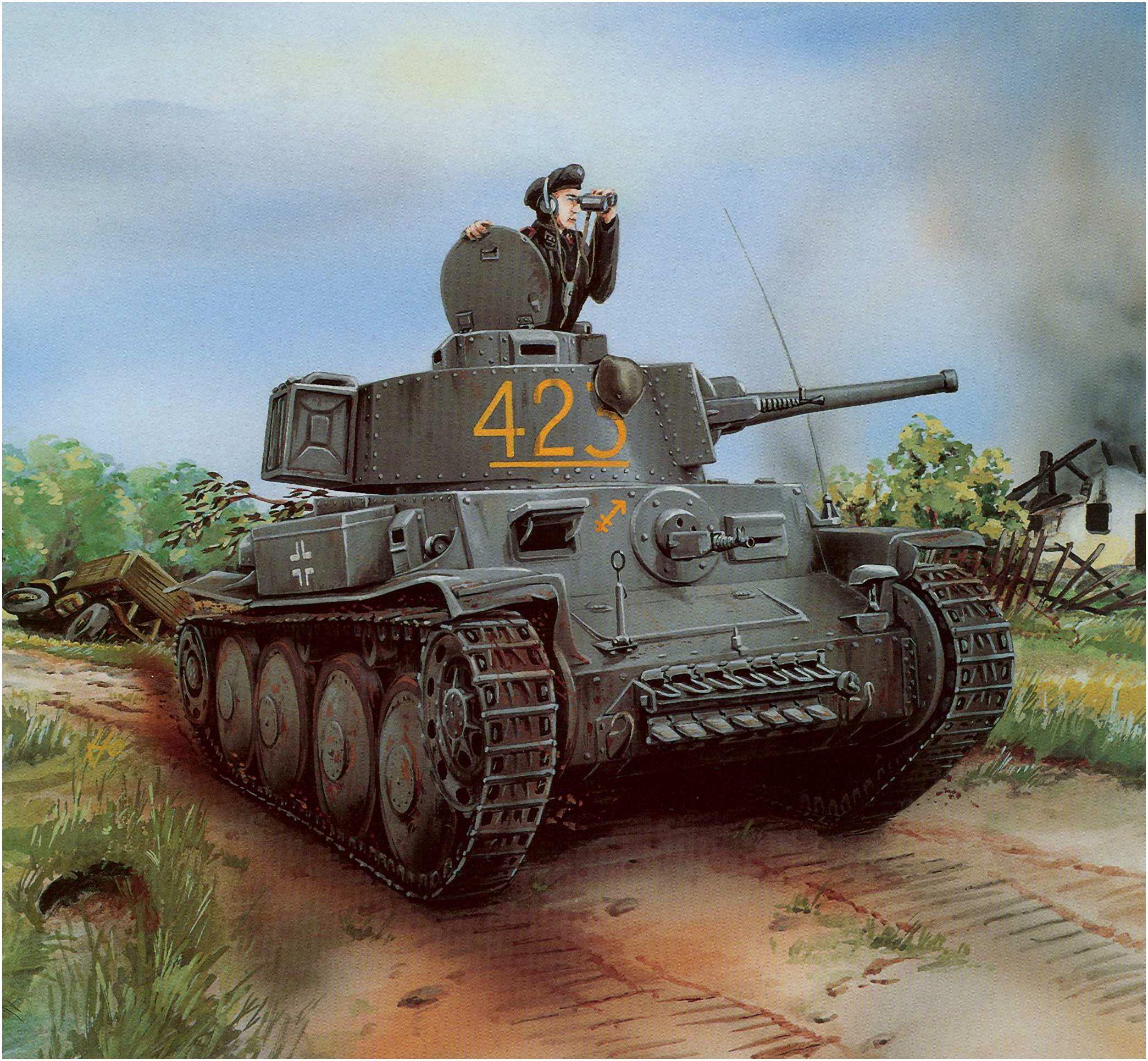 Panzer 38(t) Ausf  D (ex-LT vz 38) de la 22ª Panzerdivision