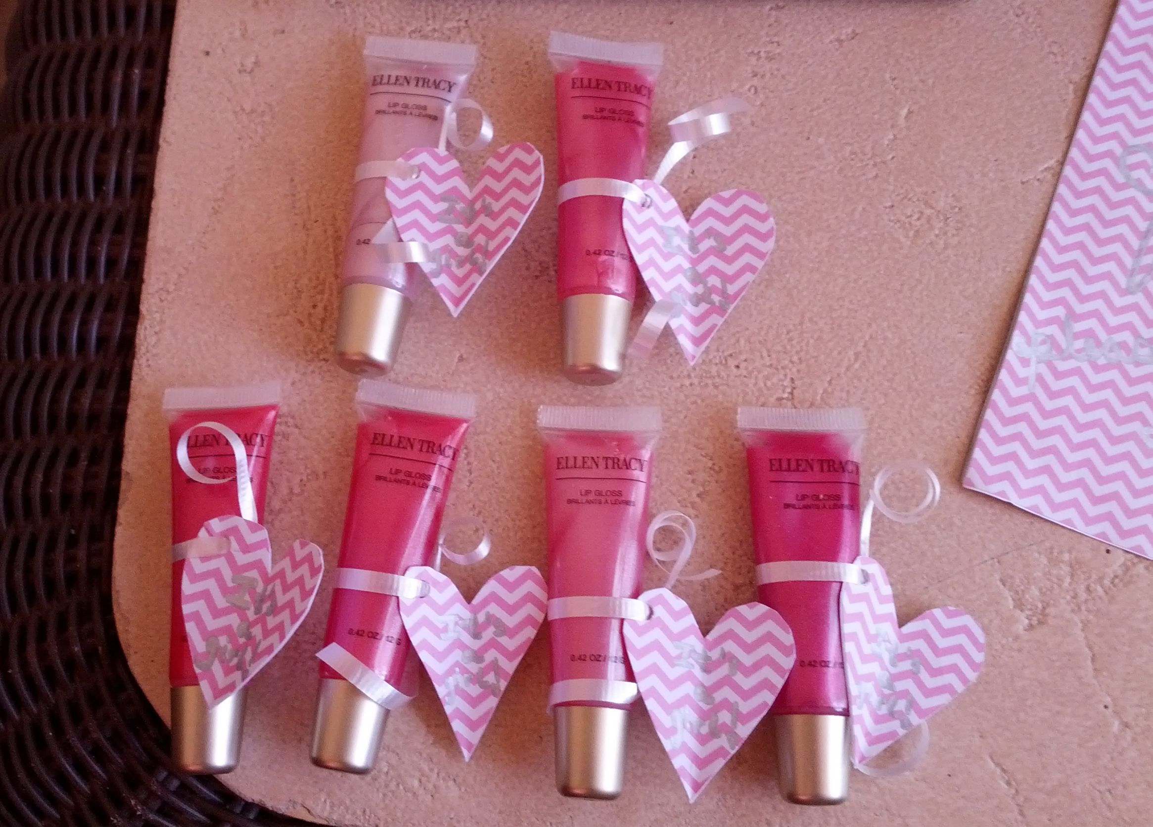 Beautiful Perfect Baby Girl Shower Favors Bought A Pack Of 6 Lip Glosses And Wrapped  Them