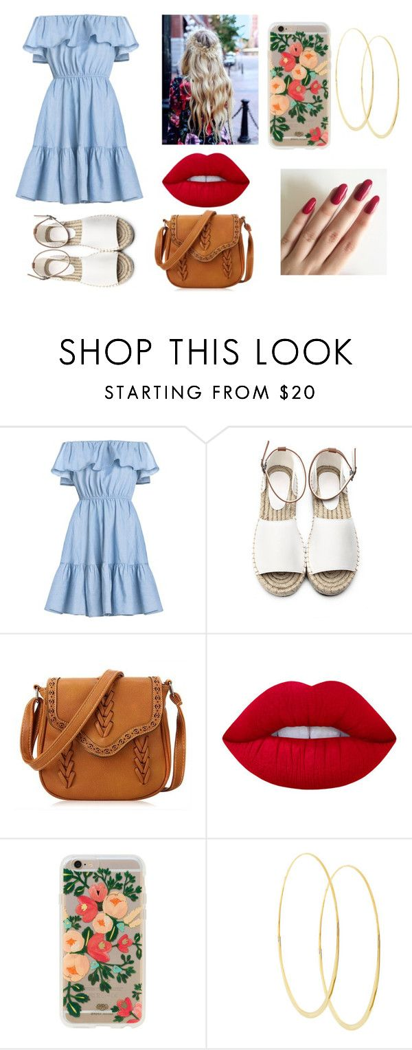 """Date Night!!!"" by iamrosyrosalie on Polyvore featuring Lime Crime, Rifle Paper Co and Lana"