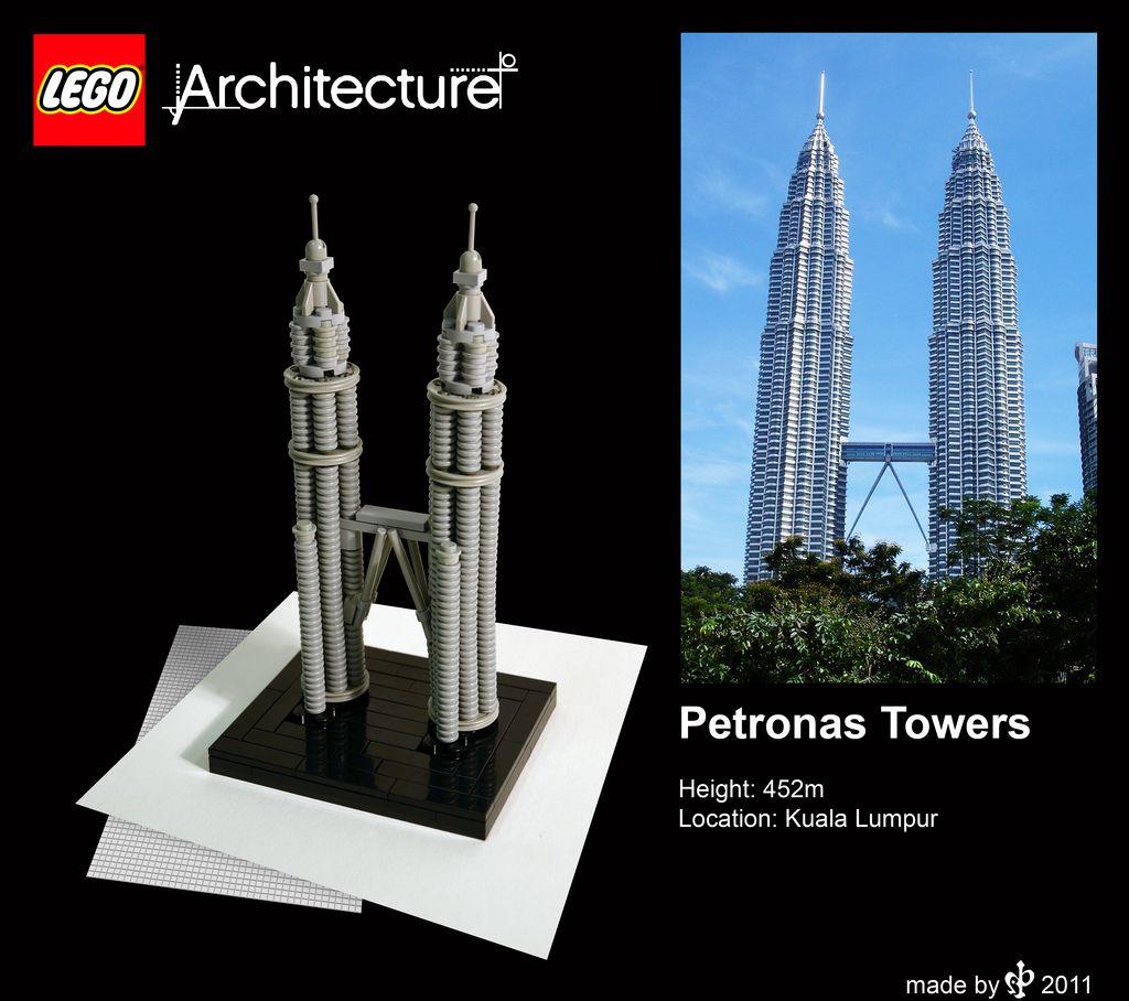 Petronas Towers Petronas Towers Lego Architecture Building Architecture