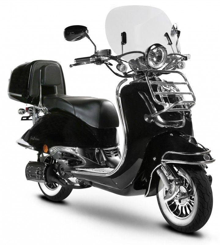 Easycruiser Schwarz 125 Ccm Honda Shadow Retro Roller Schwarz