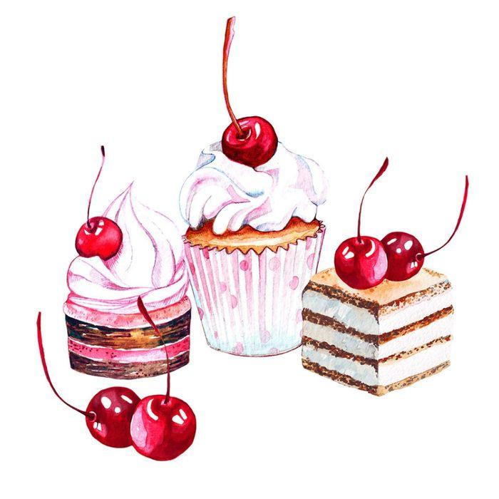 كب كيك الكرز ايس كريم صغيرة كعكة رائعة Png وملف Psd للتحميل مجانا Ice Cream Cupcakes Cartoon Birthday Cake Cupcake Vector