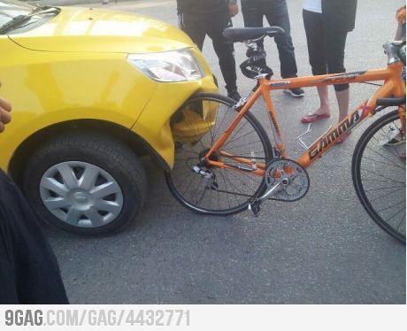 Car Vs Bike Bike Wins Funny Car Memes Funny Photos Car Humor