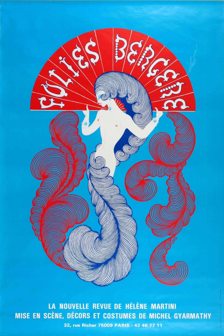 Erté Original Folies Bergere Cabaret Poster by Erte for