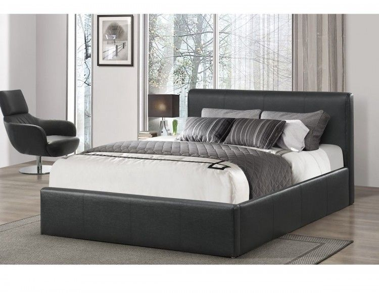 Kollektion In Leder Ottoman Bett Birlea Osmanischen 4ft Kleinen