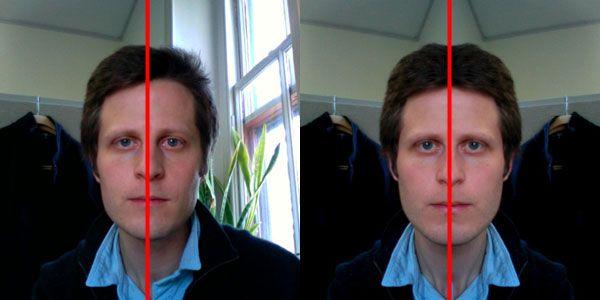 Asymmetrical face model