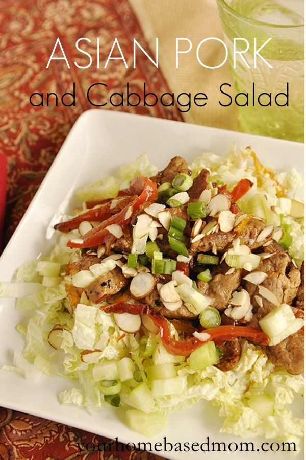 Asian Pork & Cabbage Salad