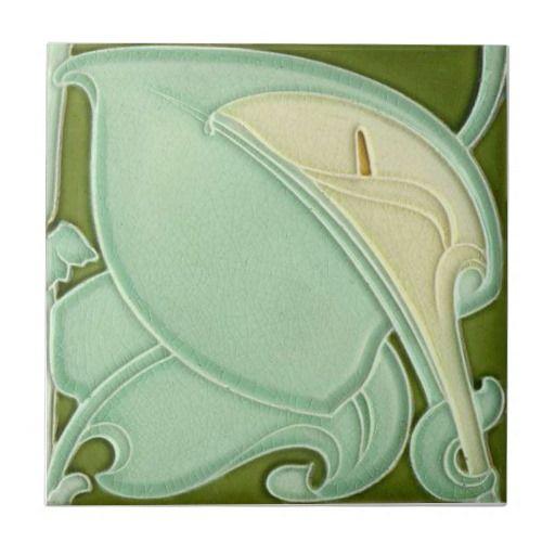 AD040 Art Deco Reproduction Ceramic Tile