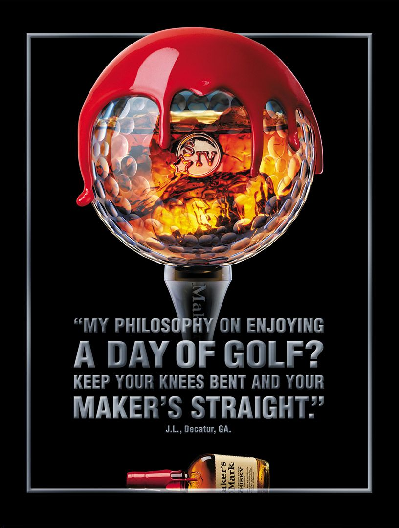I Actually Have This Print Ad Framed Over My Makers Mark Bar