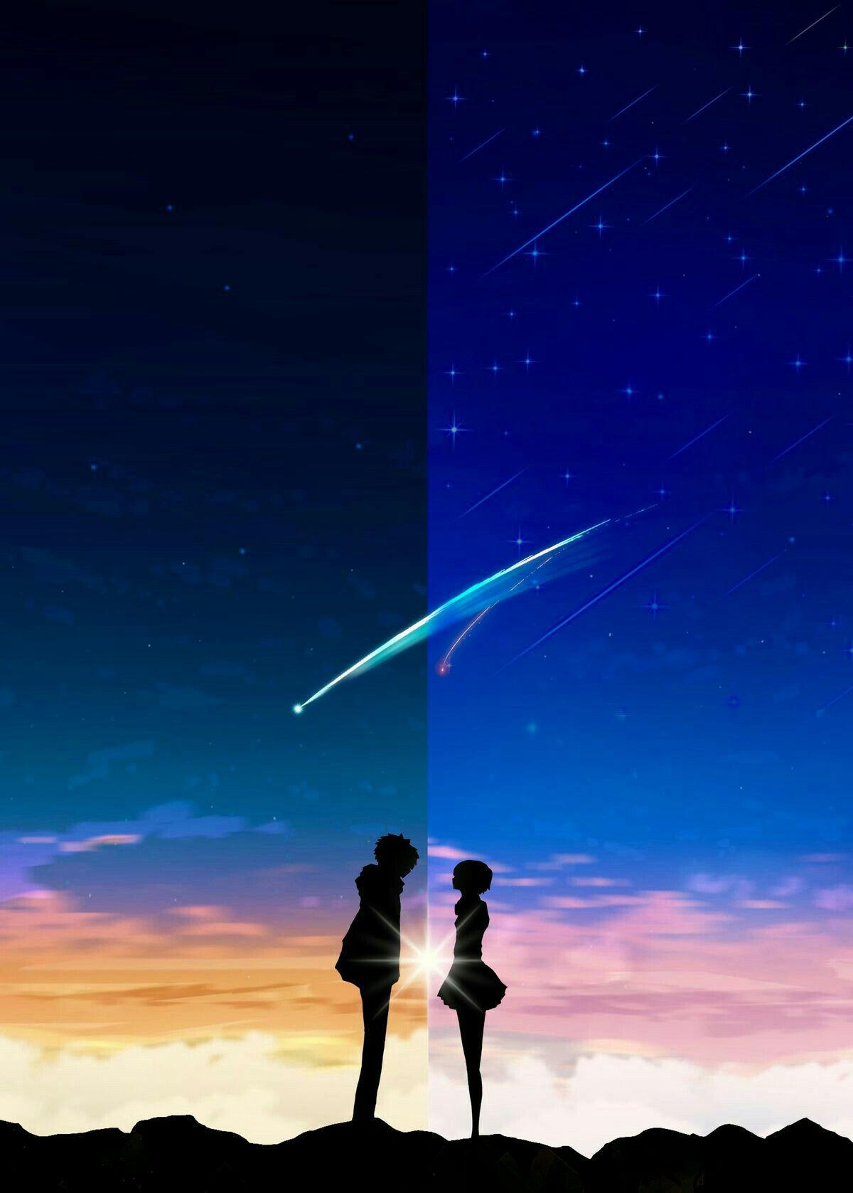 Pin By Paula On Couples Your Name Anime Kimi No Na Wa Anime Galaxy Anime galaxy wallpaper couple