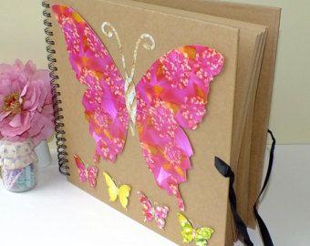 Bellamente decorada a mano color rosa y oro scrapbook lbum de fotos este hermoso libro tiene - Decoracion de album de fotos ...