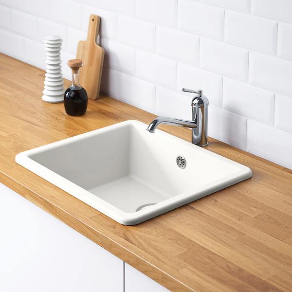 Havsen Zlew Wpuszczany 1 Komora Bialy Zamow Juz Dzis Ikea Inset Sink Sink Kitchen Sink Design