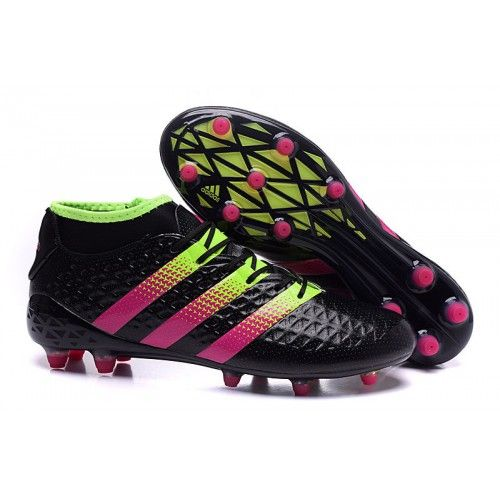 competitive price 62b85 e6741 Adidas ACE 16.2 Primemesh FG Soccer Cleats Black Pink Green