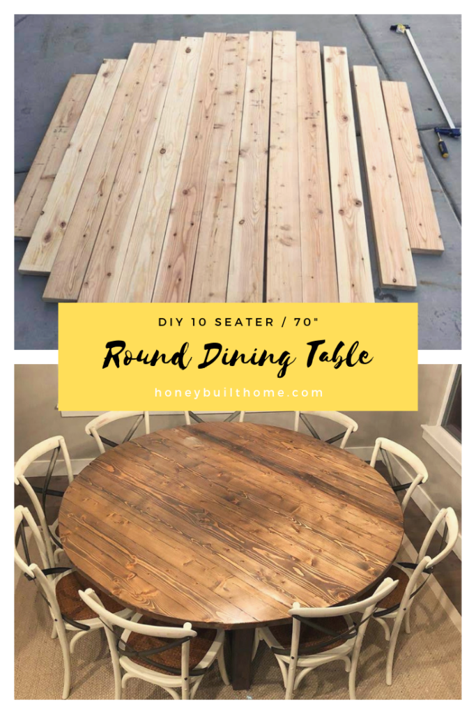 Diy 70 Round Dining Table Honey Built Home Diy Dining Table Diy Dining Round Dining Table