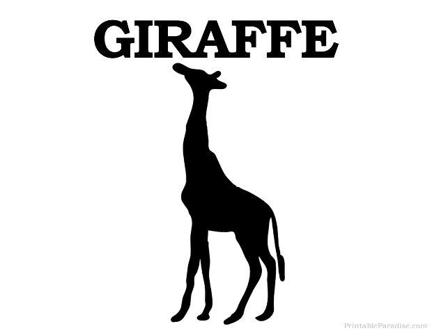Printable Giraffe Silhouette