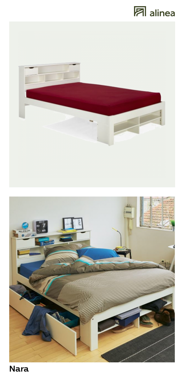 alinea nara lit 2 places en pin massif avec tete de lit meubles chambre lits