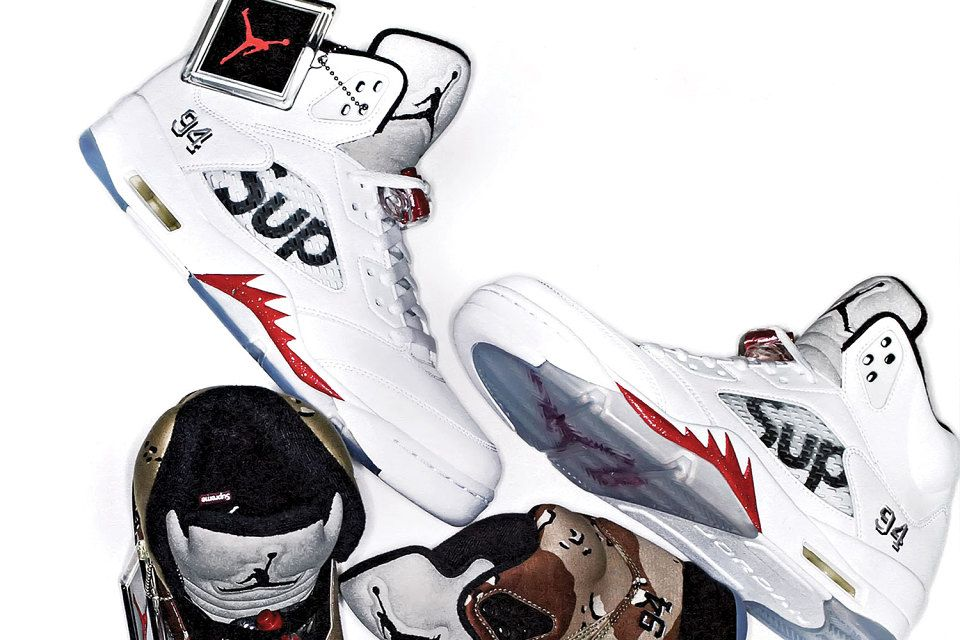 An Official First Look at the Supreme x Air Jordan 5