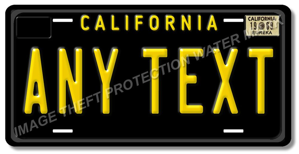 How To Get Black And Yellow California License Plates