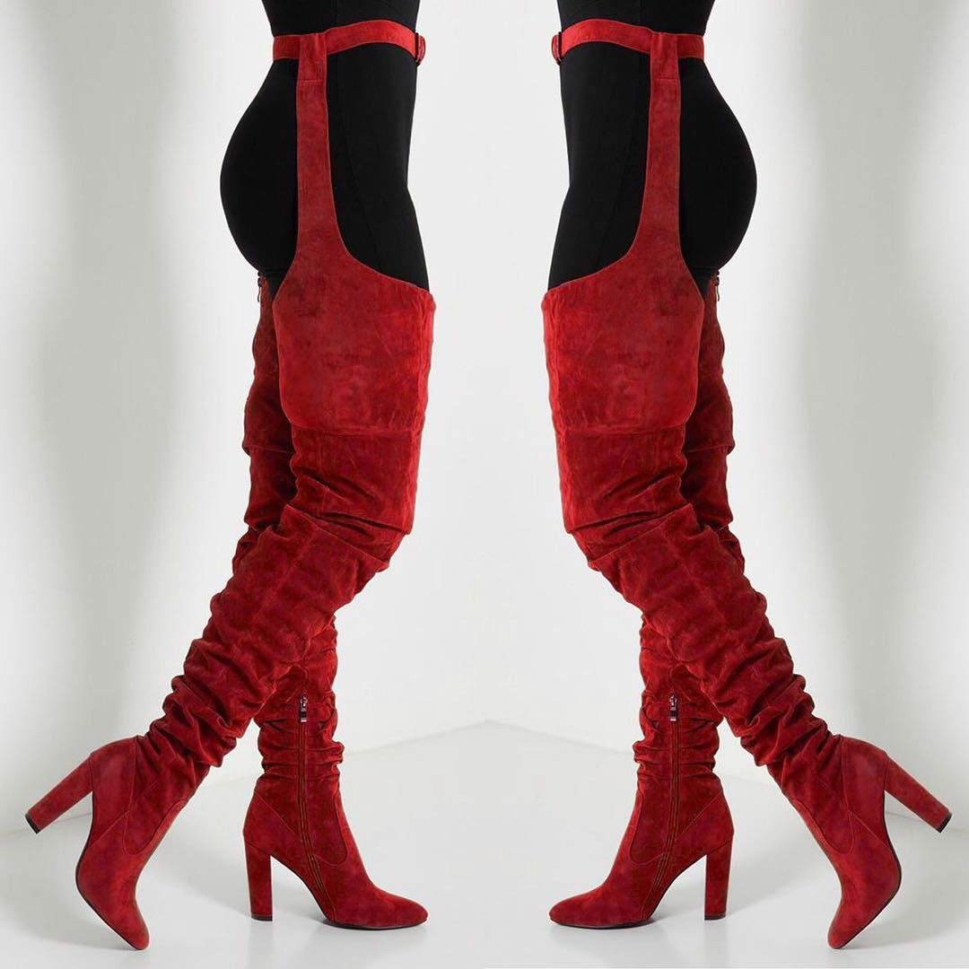 717cdf4762f4 ... shoes for ladies black lace knee high boots. Red belted boots