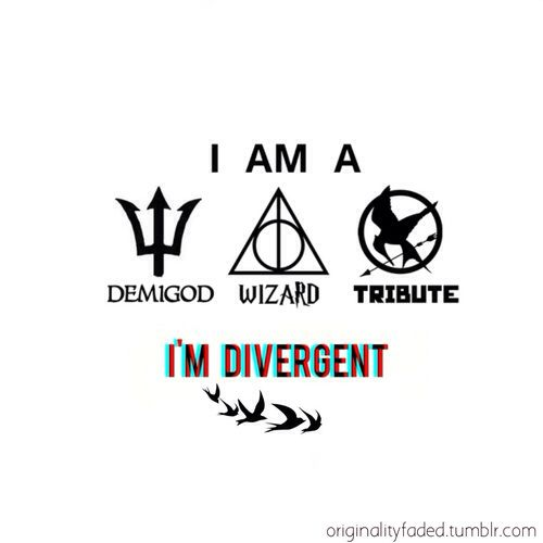 Percy Jackson, Harry Potter, Hunger Games, Divergent