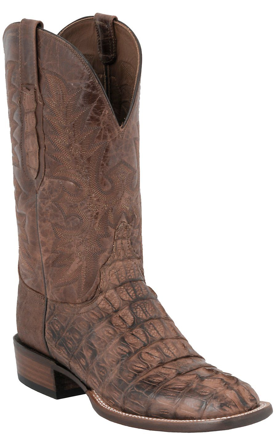Lucchese 174 Cowboy Collection Men S Brown Caiman Exotic
