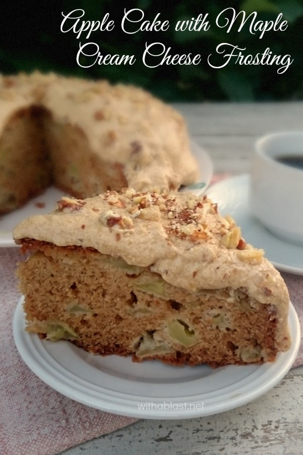 Apple Cake with Maple Cream Cheese Frosting Apple cake with Maple Cream Cheese Frosting is an easy, no-fuss single layer cake and always a winner at tea time or to serve for dessert