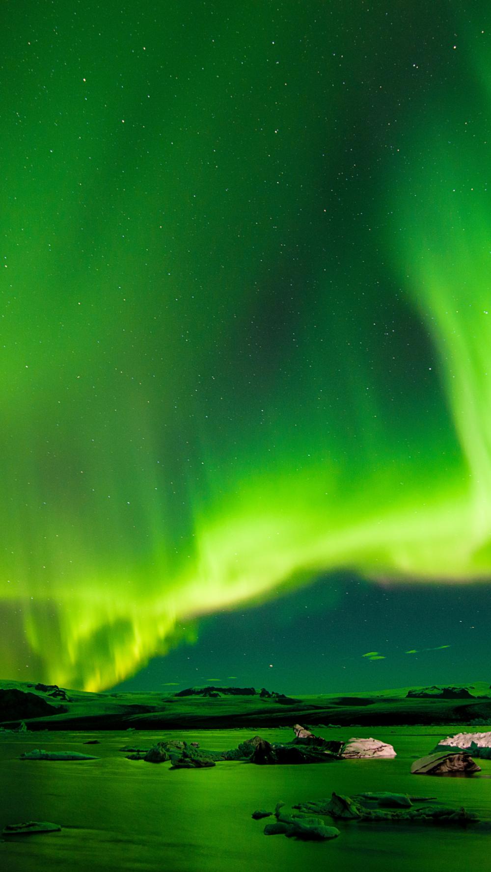 Aurora Boreali, Northern iPhone wallpaper Northern