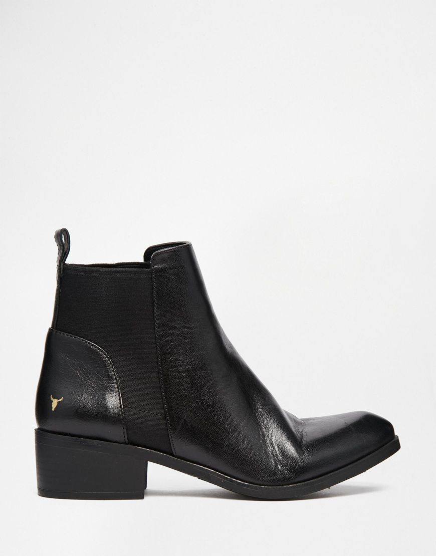 Windsor Smith Metz Black Leather Ankle
