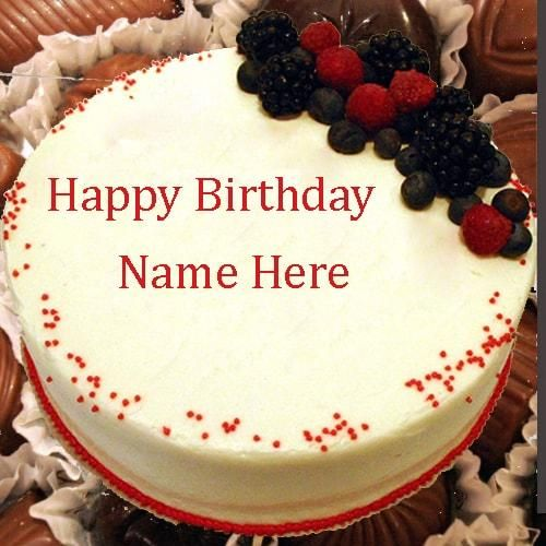 Images Of Birthday Cake With Edit Name : write name on chocolate birthday cake wishes for friends ...