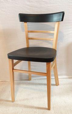 Id e relooking chaise peinture noire mat deco - Peinture noir mat pour meuble en bois ...