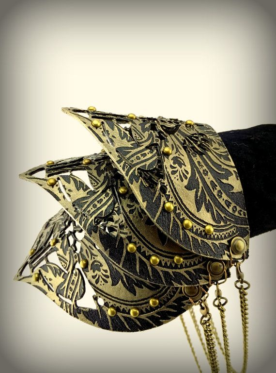 Smart New Steampunk Pu Rivets Gauntlet Bracelet Wristband Fashion Leather Protective Arm Armor Cuff Halloween Costumes Punk Style Prop Exquisite Traditional Embroidery Art Costumes & Accessories