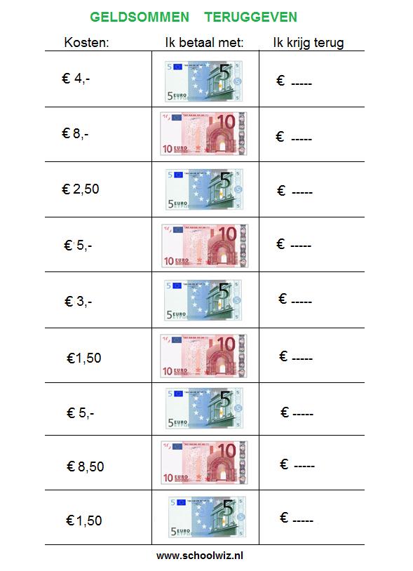 Extreem Schoolwiz - Sommen groep 5 | Rekenen | Pinterest - Rekenen, Geld &NI61