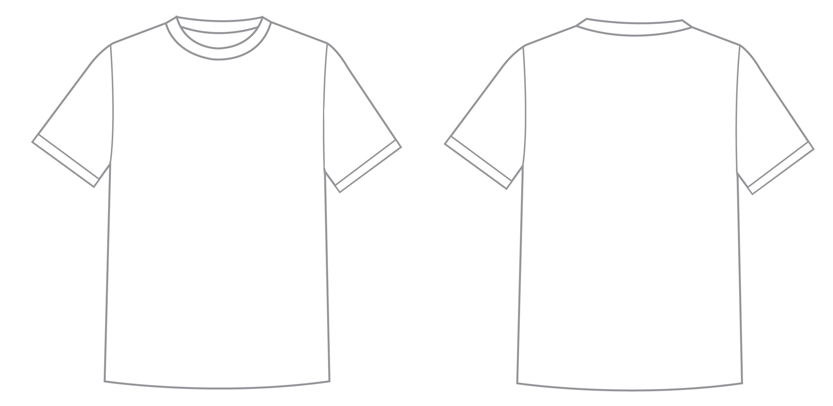 T shirt template google search comedy pinterest for Back t shirt template