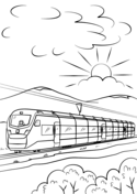 Intercity High Speed Train Coloring Page Train Coloring Pages Coloring Pages Free Coloring Pages