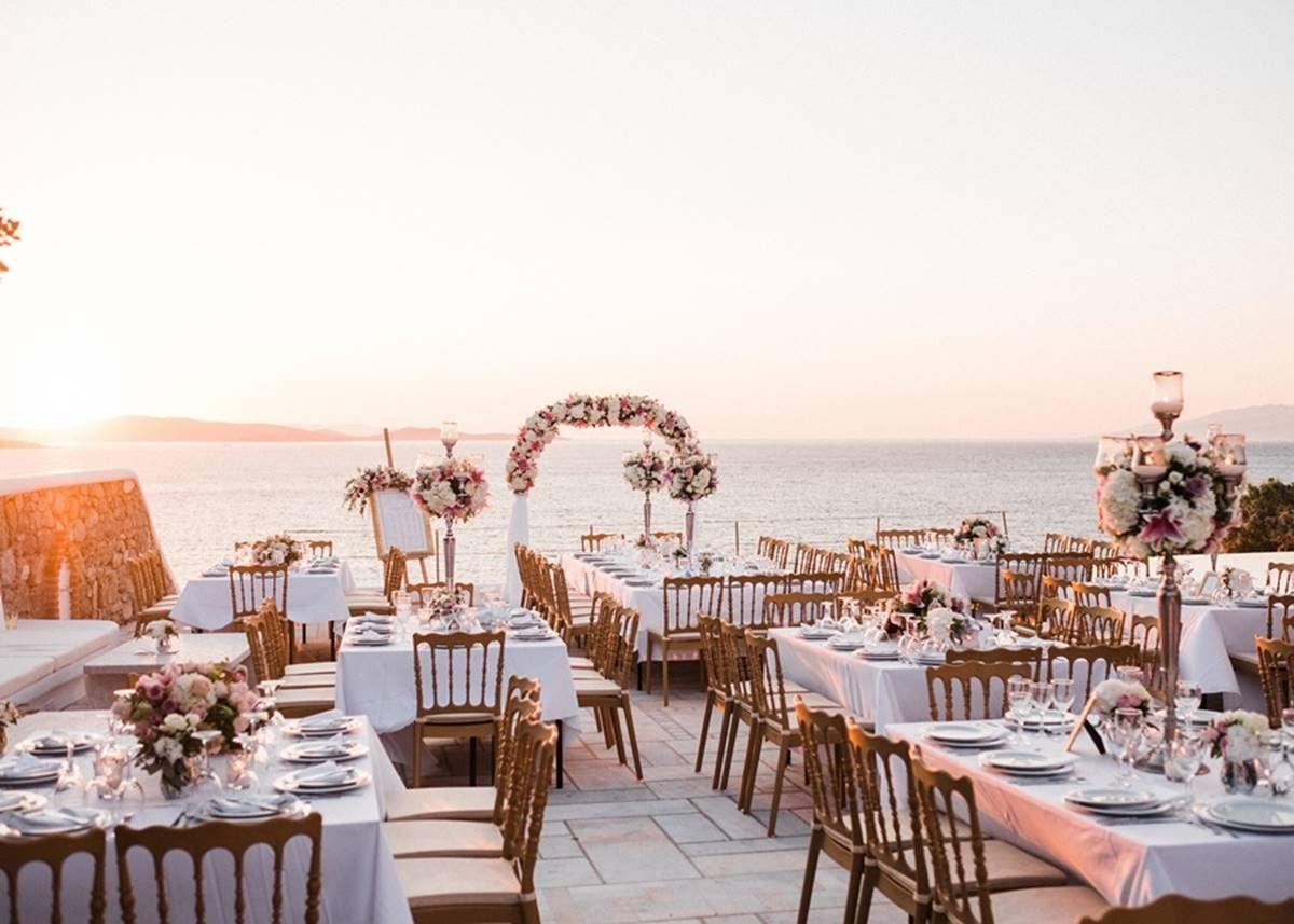 Mykonos wedding at a private villa by the sea destination