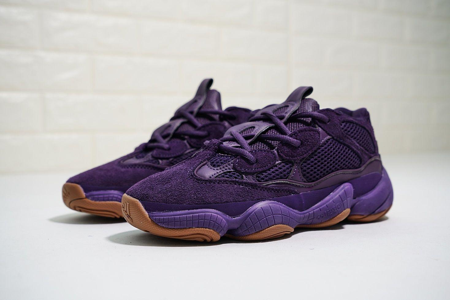 62ab8bd37 kanye west x adidas yeezy 500 ultraviolet 女款椰子透氣復古老爹鞋 ...